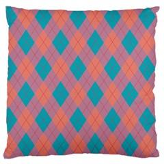 Plaid pattern Standard Flano Cushion Case (One Side)