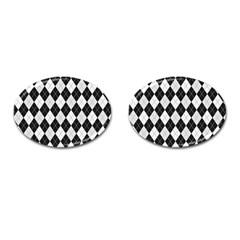 Plaid pattern Cufflinks (Oval)