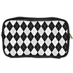 Plaid pattern Toiletries Bags