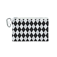 Plaid pattern Canvas Cosmetic Bag (S)