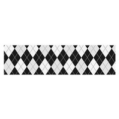 Plaid pattern Satin Scarf (Oblong)