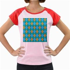 Plaid pattern Women s Cap Sleeve T-Shirt