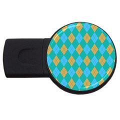 Plaid pattern USB Flash Drive Round (2 GB)