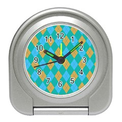 Plaid pattern Travel Alarm Clocks