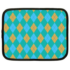 Plaid pattern Netbook Case (Large)