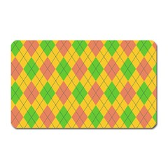 Plaid pattern Magnet (Rectangular)