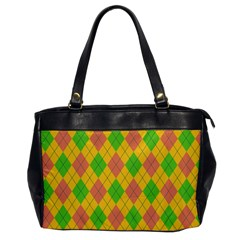 Plaid pattern Office Handbags