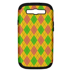 Plaid pattern Samsung Galaxy S III Hardshell Case (PC+Silicone)