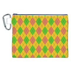 Plaid pattern Canvas Cosmetic Bag (XXL)