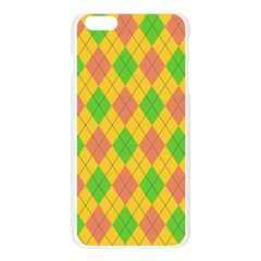 Plaid pattern Apple Seamless iPhone 6 Plus/6S Plus Case (Transparent)
