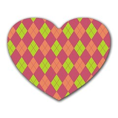 Plaid pattern Heart Mousepads
