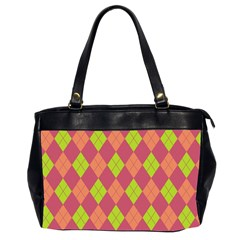 Plaid pattern Office Handbags (2 Sides)