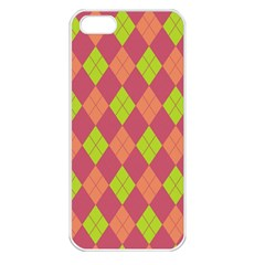 Plaid pattern Apple iPhone 5 Seamless Case (White)