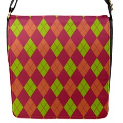 Plaid pattern Flap Messenger Bag (S)