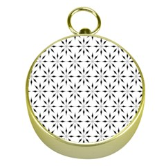 Pattern Gold Compasses