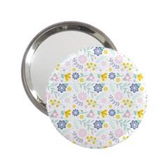 Vintage Spring Flower Pattern  2.25  Handbag Mirrors