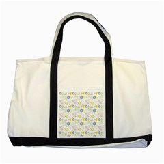 Vintage Spring Flower Pattern  Two Tone Tote Bag