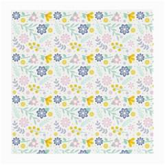 Vintage Spring Flower Pattern  Medium Glasses Cloth (2-Side)