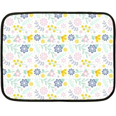 Vintage Spring Flower Pattern  Fleece Blanket (Mini)