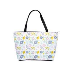 Vintage Spring Flower Pattern  Shoulder Handbags