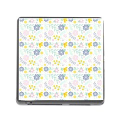 Vintage Spring Flower Pattern  Memory Card Reader (Square)