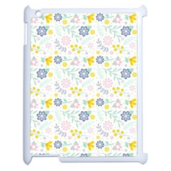 Vintage Spring Flower Pattern  Apple iPad 2 Case (White)