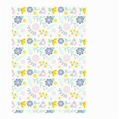Vintage Spring Flower Pattern  Small Garden Flag (Two Sides)