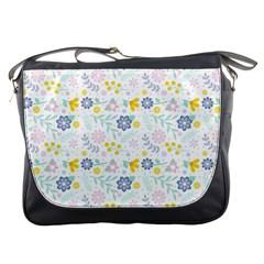 Vintage Spring Flower Pattern  Messenger Bags