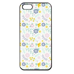 Vintage Spring Flower Pattern  Apple iPhone 5 Seamless Case (Black)