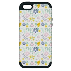 Vintage Spring Flower Pattern  Apple iPhone 5 Hardshell Case (PC+Silicone)