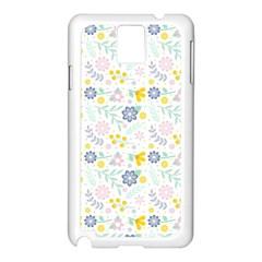 Vintage Spring Flower Pattern  Samsung Galaxy Note 3 N9005 Case (White)