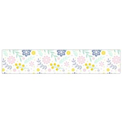 Vintage Spring Flower Pattern  Flano Scarf (Small)