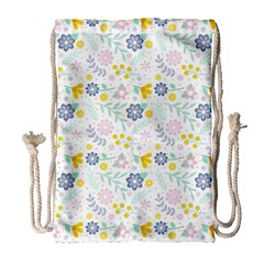 Vintage Spring Flower Pattern  Drawstring Bag (Large)