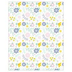 Vintage Spring Flower Pattern  Drawstring Bag (Small)