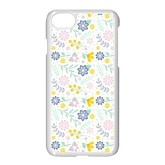 Vintage Spring Flower Pattern  Apple Iphone 7 Seamless Case (white)