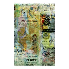 Old Newspaper And Gold Acryl Painting Collage Shower Curtain 48  x 72  (Small)