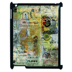 Old Newspaper And Gold Acryl Painting Collage Apple iPad 2 Case (Black)