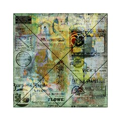 Old Newspaper And Gold Acryl Painting Collage Acrylic Tangram Puzzle (6  x 6 )