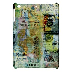 Old Newspaper And Gold Acryl Painting Collage Apple iPad Mini Hardshell Case