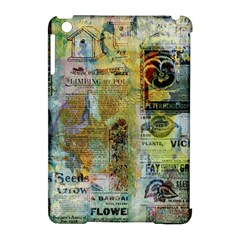 Old Newspaper And Gold Acryl Painting Collage Apple iPad Mini Hardshell Case (Compatible with Smart Cover)