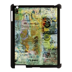 Old Newspaper And Gold Acryl Painting Collage Apple iPad 3/4 Case (Black)