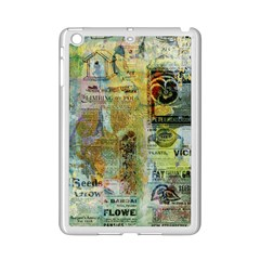 Old Newspaper And Gold Acryl Painting Collage iPad Mini 2 Enamel Coated Cases