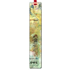 Old Newspaper And Gold Acryl Painting Collage Large Book Marks