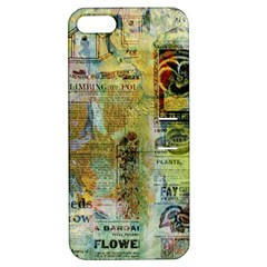 Old Newspaper And Gold Acryl Painting Collage Apple iPhone 5 Hardshell Case with Stand