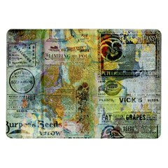 Old Newspaper And Gold Acryl Painting Collage Samsung Galaxy Tab 10.1  P7500 Flip Case