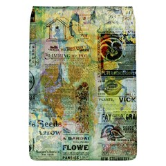 Old Newspaper And Gold Acryl Painting Collage Flap Covers (L)