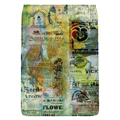 Old Newspaper And Gold Acryl Painting Collage Flap Covers (S)