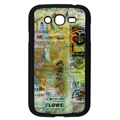 Old Newspaper And Gold Acryl Painting Collage Samsung Galaxy Grand DUOS I9082 Case (Black)