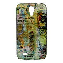 Old Newspaper And Gold Acryl Painting Collage Samsung Galaxy Mega 6.3  I9200 Hardshell Case