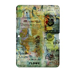 Old Newspaper And Gold Acryl Painting Collage Samsung Galaxy Tab 2 (10.1 ) P5100 Hardshell Case